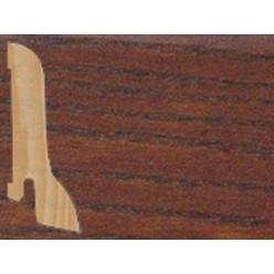 Плинтус шпонированный Ясень коньяк профиль галтель (сапожок)