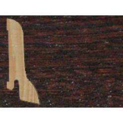Плинтус шпонированный Венге профиль галтель (сапожок)