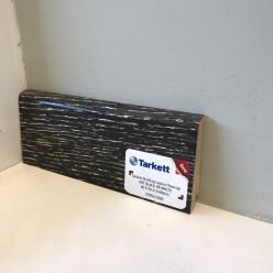 Плинтус шпонированный наклонный Арт Блэк оф Вайт (Черный или Белый)