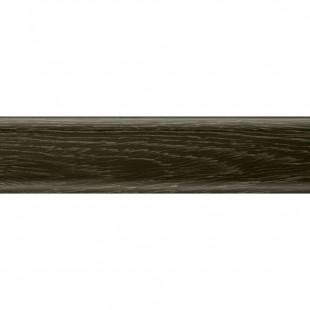 Плоский плинтус Salag высота 62 мм. артикул NG6086 Дуб горелый (Smoked oak)